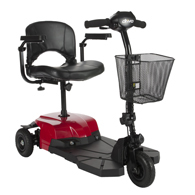 Drive BOBCATX3 Bobcat X3 Compact Transportable Scooter-3 Wheel-Red